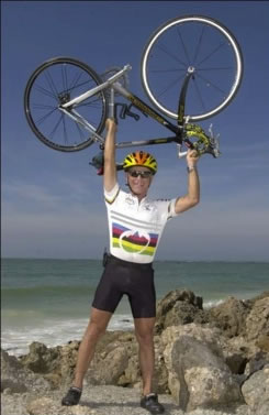 ron klein with bike