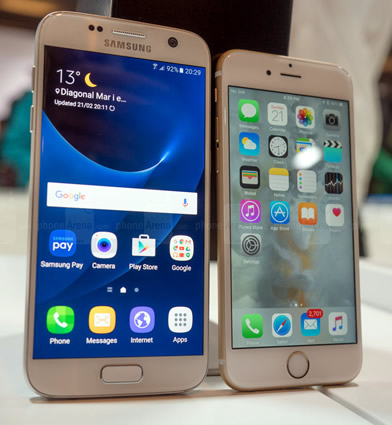 samsung galaxy s7 and iphone 6s