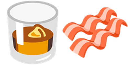 whisky bacon emoji