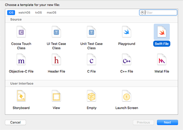 new-swift-file