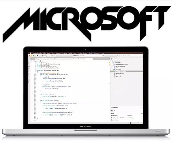 old-microsoft-logo-and-mac-visual-studio
