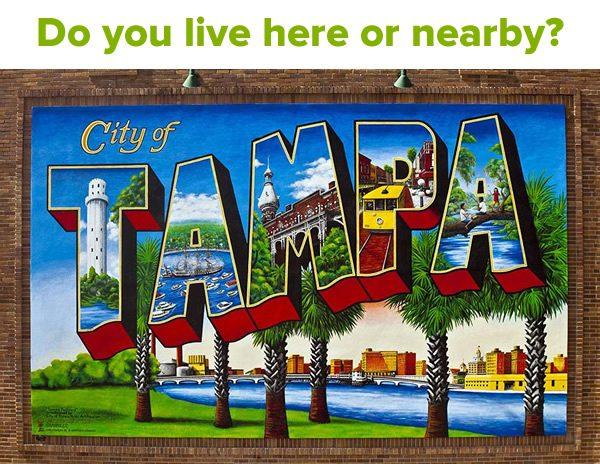 Do you live here or nearby? (Photo of Tampa wall mural.)