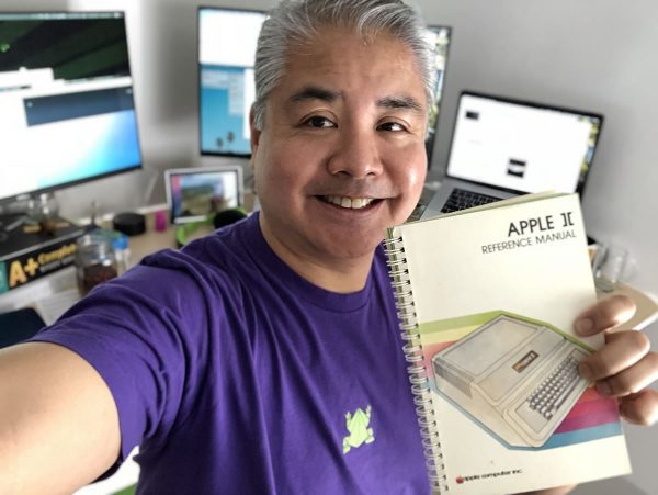 Joey deVilla and his original Apple ][ reference manual