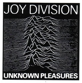 Cover of the album 'Unknown Pleasures' by Joy Division.