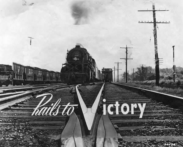 "Opening shot from the film ""Rails to Victory\"""