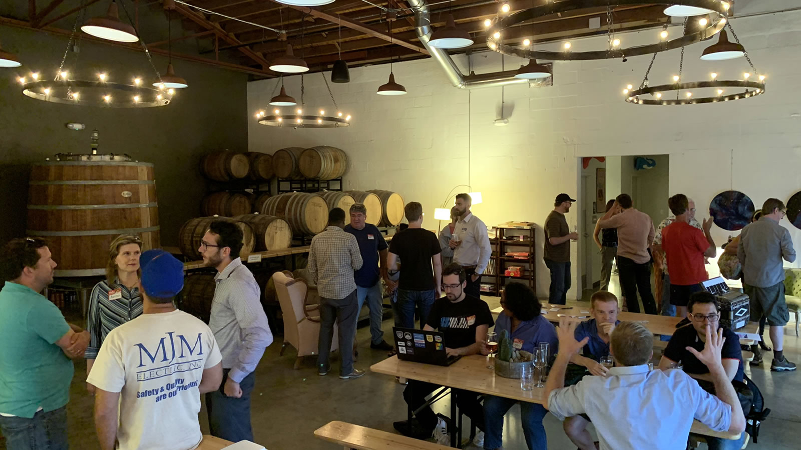 "The ""Coders, Creatives, and Craft Beer"" meetup takes over the place, 7venth Sun Brewery, Tampa, July 9, 2019."