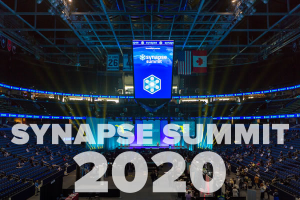 Photo: The Synapse Summit 2019 exhibitor floor on center ice at Amalie Arena.