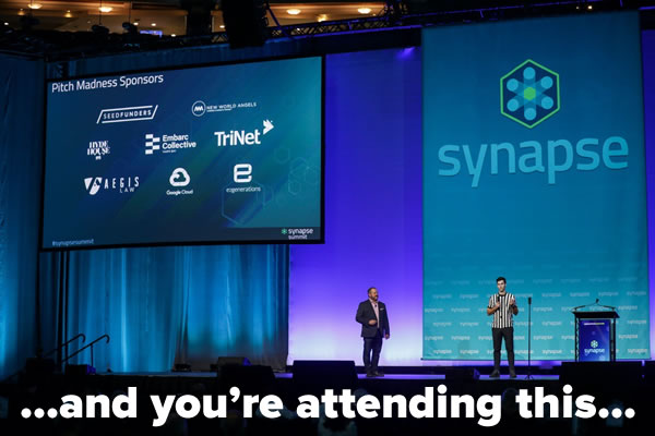 ...and you're attending this... [Photo of keynote speech at Synapse Summit]