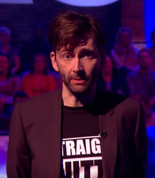 "David Tennant giving his ""It's going to be okay"" speech on the BBC TV show ""The Last Leg"", January 2017."