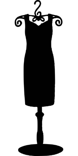 Silhouette of a little black dress on a dress form