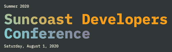 Banner: Suncoast Developers Conference - Saturday, August 1, 2020