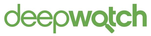 Logo: deepwatch, a Tampa Bay tech startup