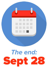 "Icon: Calendar — ""The end: September 28"""