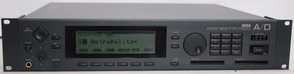Front view of the Korg Wavestation A/D rackmount synthesizer