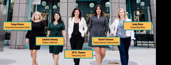 Photo of Tonya Elmore, Lakshmi Shenoy, Jill St. Thomas, Rachel Feinman, and Linda Olson